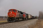 CN 8801 Is doing every bit of track speed with M394 in tow