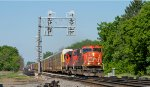 A CN SD75I does track speed at Durand with M393 in tow