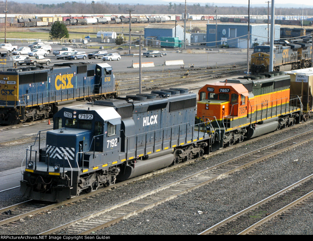 HLCX EMD SD40-2's 7192 & 7857