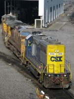 CSXT EMD GP38-2S 4442 with a pair of UP GE's