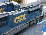 CSXT EMD SD80MAC 4602 & EMD GP15-1 1545