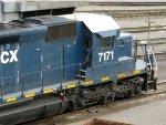 HLCX EMD SD40-2 7171