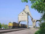 UP Train Through Coaling Tower