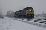 CSX Q347 runs in snow