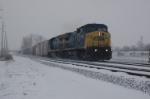 CSX Q347 runs in snow