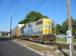CSX 2522 leads H795 back from the mixing center