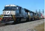 NS 2628 goes east with Train 24Z