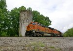 BNSF Plant Sherer coal Train turns south at Ooltewah