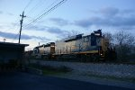 CSX 2201 holding at Resaca with a ballast train