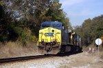CSX 508 leads a bean train at Cisco