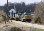 CSX 768 leads a stack train at Tunnel Hill