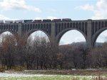 Train 553 crossing the Tunkhanock Viaduct