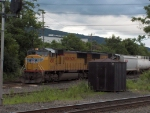 UP 4518 heads a train