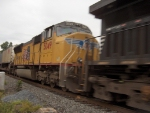 UP 5049 helps pull an intermodal