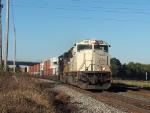 NS 2637 leads an intermodal