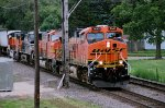 BNSF 7645, 8256, NS 9949 and BNSF 8257