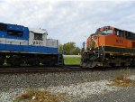 EMDX SD60 9021 & BNSF C44-9W 1074