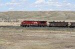 Empty Coal Gondolas Head back to Canada on the Portal Subdivision