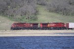 CP 9618 With a Mixed Freight on an Early Spring Day