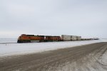 BNSF 4632 Blows Past with a Hot Z Train