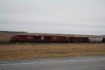 Newer GE's on a Portal Subdivision Grain Train