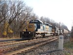 CSX 8849 along side of the old NYC Milepost Marker 22