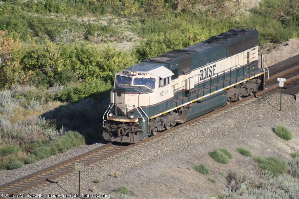 BNSF 9763 Runs Back to Glendive, MT to Assist on Another Eastbound Through the Badlands