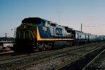 CSX 7782 deadhead the Santa train consist