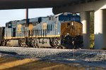 My first photo encounter with a Box Car Logo CSX Unit and it is 3019 leading a NB Rock train through Wildwood.