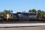 A very well worn SD40-2 in YN2 sits in the north end of the old yard at