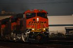 A Very, Very Clean and Brand New BNSF 6833 Fresh out of GE Erie, PA!!! Leads a Hot Stack Train thru the BNSF Commerce City Area as she Heads eastbound with the S SCL-LPC towards BNSF Barstow.