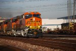 BNSF 6833 with the Sun's Rays Gleeming Off Her GE/BNSF Swoosh Logo Paint heads east with the S SCL-LPC!!!
