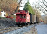 Conductor protects the shove on Toms Creek Mine lead