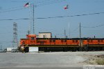BNSF Power and the US and Texas Flags