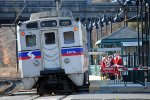 Santa's board an inbound SEPTA