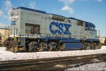 CSXT 1502, EMD GP15T, ex C&O 1502, at Barr Yard