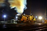 NS SD40-2 #3363 turn cold start up around at mid-night time..