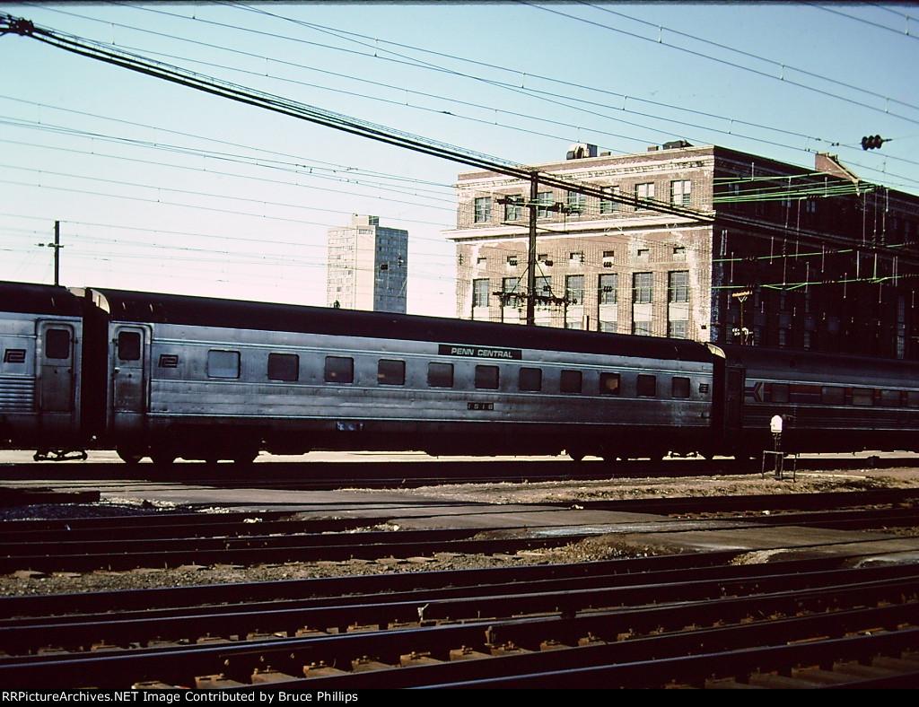 Penn Central #1516 (sleeper maybe?) on Amtrak - 1976
