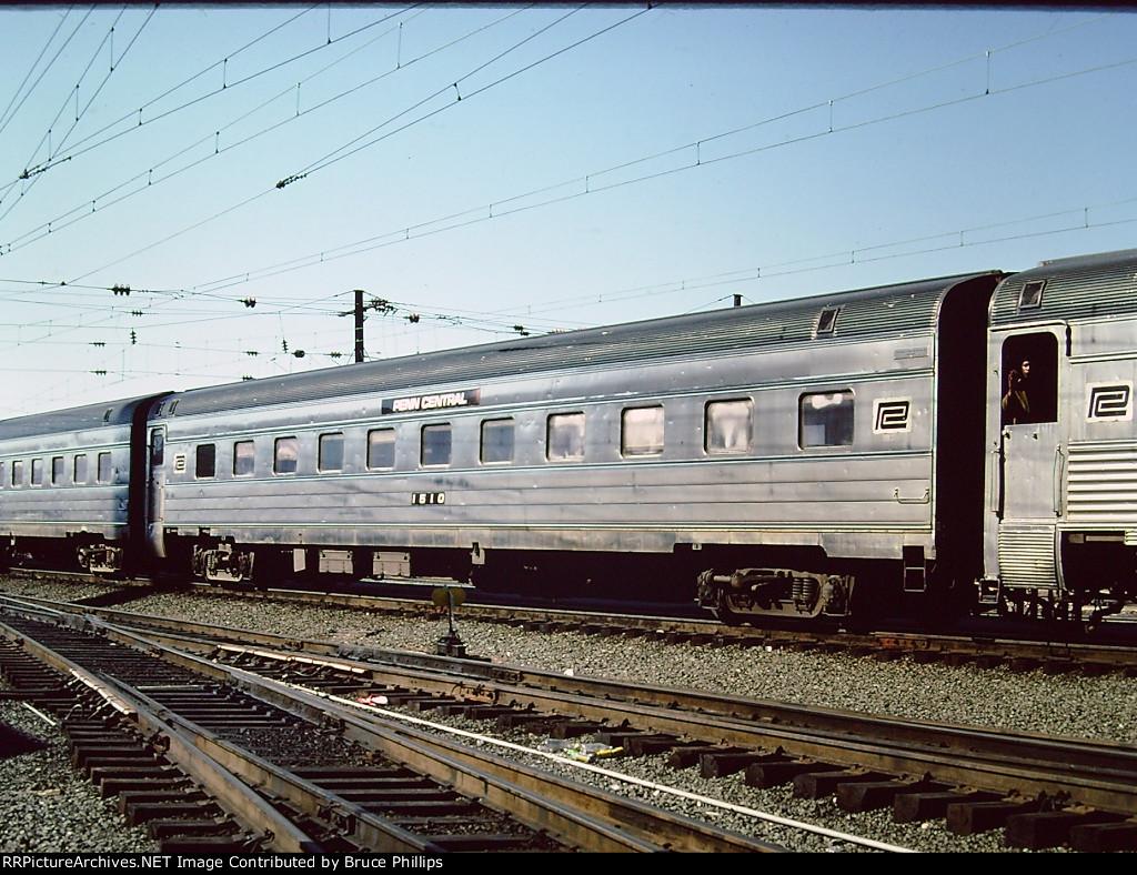 Penn Central Coach 1510 in Amtrak service - 1976