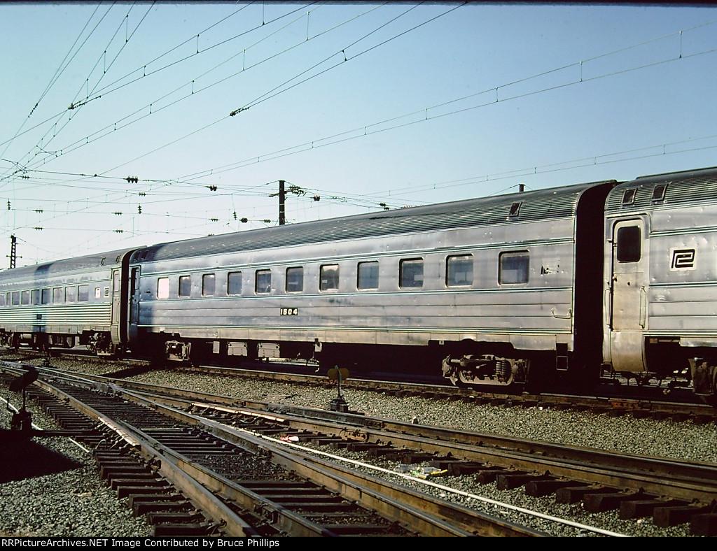 Penn Central Coach 1504 in Amtrak service - 1976