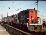 Central Vermont GP-9 at New Haven after assisting Montrealer -1976