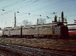 Former Penn Central E8s in Amtrak service at New Haven - 1976