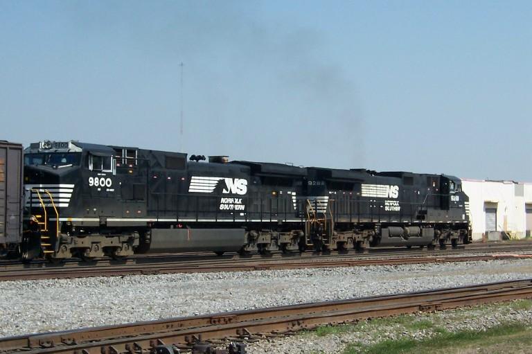 NS train 314 heads toward Norris Yard
