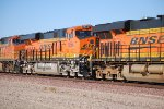BNSF 6684 Looking Real Clean heads east as a #3 unit on a Double Stack Train.