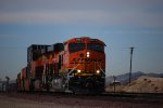 BNSF 6833 Leads the S LHT-LDR into the BNSF Barstow yard for a crew change at 09:02 am/PST