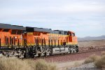 BNSF 6833 a Very, Very Brand New ES44C4 passses me by as the Sun Shines off Her GE/BNSF Swoosh Logo Paint