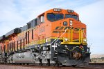 BNSF 6833 close up as she waits to head east with another Double Stack ahead of her at Daggett, CA waiting for the Z9.