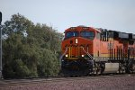 BNSF 6804 showing the wear and tare off the Transcon heads west towards BNSF Barstow and a crew change.