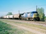 CSX 7798 on a Grain Train in Aurora