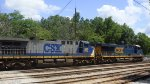 CSX 380 / 734 at the yard
